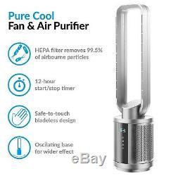Quiet Double Hepa Purificateur D'air Et Cool Pur DC Avec Ventilateur Avec Télécommande Iq-purecools