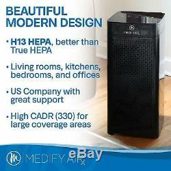 Remis À Neuf Medify Ma-40 De Qualité Médicale H13 Hepa True Black Avec Un Nouveau Filtre