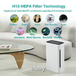 Simpure Hp8 Grand Purificateur D'air De Chambre Jusqu'à 800 Pieds2 Air Clean Ture Hepa 2-pack
