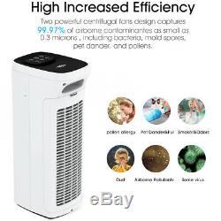 True Hepa H13 Purificateur D'air Ioniseur Grand Cleaner Chambre Pour Les Allergies Somker Animaux