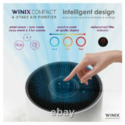 Winix Compact 4 Étapes Purificateur D'air Allergène / Nettoyant 29,5m2 Hepa / Filtre De Carbone